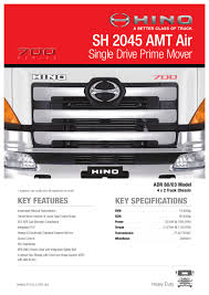 hino 700 series sh 2045 amt air spec sheet by justin edwards issuu