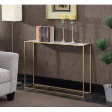Marble Console Table Convenience Concepts Gold Coast Faux Marble Console Table