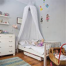 Princess Bed Canopy White Mosquito Net Mesh Bed Canopy Bed Cover Kids Baby Princess