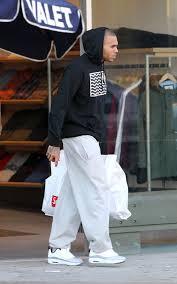 chris brown shopping in cmft viz air 13 sneaker upscalehype