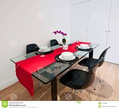 Red Dining Table by Dining Table With Red Cloth Royalty Free Stock Images Image