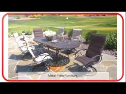Patio Furniture Metal Metal Patio Furniture Plastic Outdoor Furniture Youtube