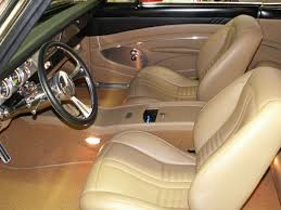 Custom Car Interior Upholstery 1966 Chevy Nova Custom Leather Interior Interiors By Shannon Com