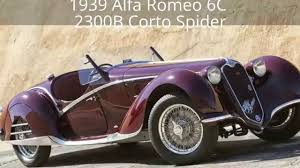 alfa romeo 6c 1939 alfa romeo 6c 2300b corto spider in the style of touring
