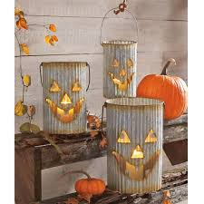 halloween luminaries tin pumpkin luminaries