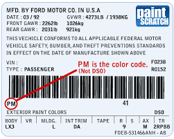 ford touch up paint color code and directions for ford