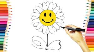 flowers coloring pages for kids draw and color flowers