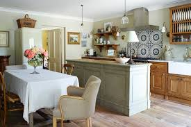 country kitchens ideas wooden island with table chairs country kitchen design ideas