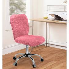 pink furry desk chair image for faux fur furry office chair furniture pinterest bedrooms