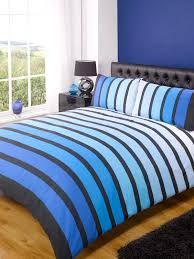 bedroom soho blue stripe duvet covers queen with tufted headboard