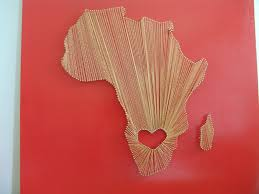 orange gold nail string art heart in south africa by