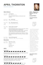 Visual Resume Examples Art Teacher Resume Examples Resume Example And Free Resume Maker