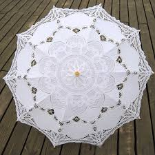 parapluie mariage 4 colors sun lace umbrella parasol embroidery umbrella white