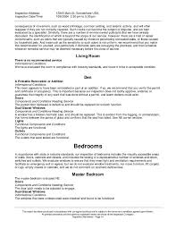 Scannable Resume Sample by 1 House Inspections Report
