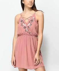 dress pink dresses zumiez