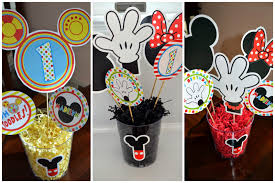 mickey mouse clubhouse centerpieces flavors by four mickey mouse clubhouse birthday party ideas