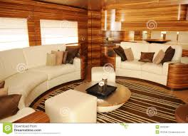Cozy Living Room by Luxury Yacht Interior Cozy Living Room Royalty Free Stock