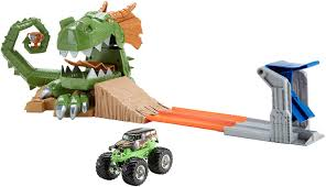 how long does monster truck jam last amazon com wheels monster jam dragon arena attack playset