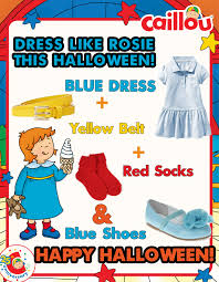 dress up as rosie for halloween check out this easy diy caillou