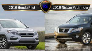 2016 nissan pathfinder 2016 honda pilot vs nissan pathfinder by the numbers youtube