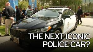 police car ford unveils hybrid police car powerful enough for high speed