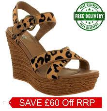 ugg platform sandals sale ugg bnib 129 leather wedge platform sandals s