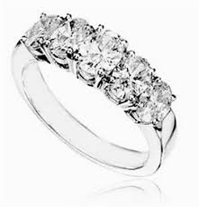 half eternity ring 5 oval diamond half eternity ring dhhet1010 diamond heaven