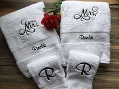 wedding gift towels his and hers luxury bath towel set monogram styles towels