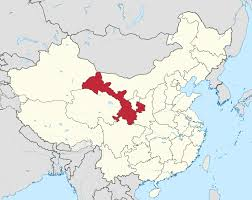 Great Wall Of China On Map by Gansu Wikipedia