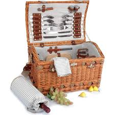 picnic basket set for 4 picnic basket set couture collection b