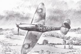 a summer for heroes pencil sketches aviation art by geoff nutkins