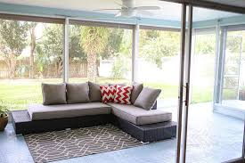 outdoor lanai indoor outdoor patio with colorful painted concrete floor