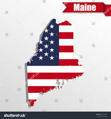 Maine State Usa Map by Maine State Map Us Flag Inside Stock Vector 421476178 Shutterstock