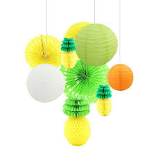 luau party decorations pineapple paper lantern paper fan for hawaii luau party