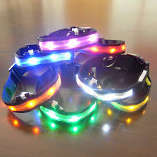 collar light for small dogs nylon pet led dog collar light night safety anti lost flashing glow