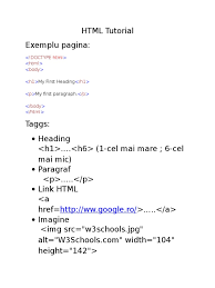 html tutorial html element html