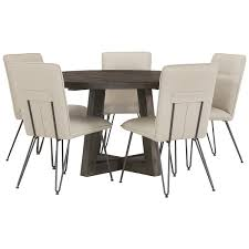 Orson Chair City Furniture Orson Dark Tone Table U0026 4 Upholstered Chairs