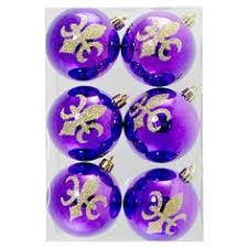 zardozi fleur de lis ornament purple mardi gras