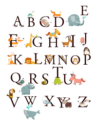 Letter Wall Decals For Nursery by Alphabet Animals A Z Large Set Kids Wall Art Decals Stickers