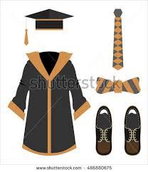 graduation accessories graduation clothes accessories set stock vector 486880675