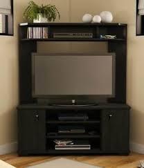 buy new 42 inch corner tv stand black entertainment media storage
