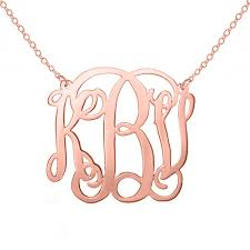 gold plated monogram necklace gold monogram necklace 1 inch small gold plated