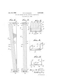 patent us3017672 non load bearing dry wall partition
