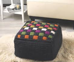 Crochet Ottoman Pattern Technicolor Cube Ottoman Crochet Pattern By Rioux In