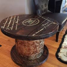 outdoor tables made out of wooden wire spools 19 fresh takes on upcycled wooden cable spools for easy diy projects
