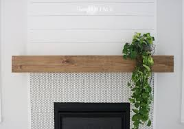 Wood Mantel Shelf Pictures by Easy Diy Wood Mantel Remington Avenue