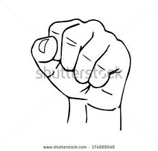 drawing clenched fist stock vector 174869546 shutterstock