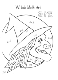 halloween math multiplication coloring sheet coloring pages with