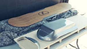 lexus hoverboard future lexus unveils the slide hoverboard come take a closer look