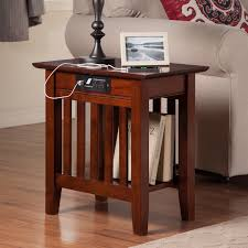 atlantic furniture vienna end table with charging station hayneedle